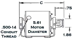 GE motor diagram
